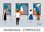 visitors of classic art gallery ...   Shutterstock .eps vector #1700013121