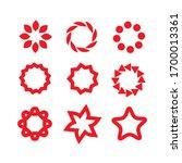 badges red. design elements....   Shutterstock .eps vector #1700013361
