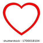 heart icon for mobile app and... | Shutterstock .eps vector #1700018104