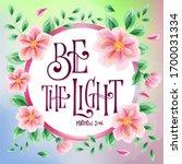 Flower Design Hand Drawn Bible...