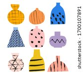 collection of hand drawn vector ... | Shutterstock .eps vector #1700107891