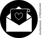 email in black circle icon....