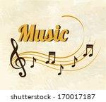 musical design over  pattern ... | Shutterstock .eps vector #170017187