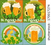 st. patrick's day backgrounds ... | Shutterstock .eps vector #170017274