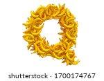 letter q from bananas  3d...