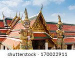 giant buddha in wat phra kaeo ... | Shutterstock . vector #170022911