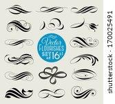 set of decorative design... | Shutterstock .eps vector #170025491
