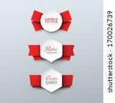 set of paper labels in vintage... | Shutterstock .eps vector #170026739
