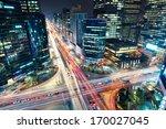 Night Traffic Speeds Through An - Fine Art prints