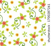 daisy spring pattern. hand... | Shutterstock .eps vector #1700287261