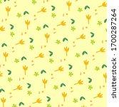 daisy spring pattern. hand... | Shutterstock .eps vector #1700287264