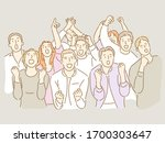 a company colleague and several ... | Shutterstock .eps vector #1700303647
