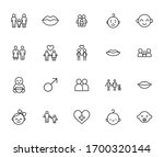 simple set of love icons in... | Shutterstock .eps vector #1700320144