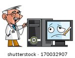 doc auscultating the pc | Shutterstock . vector #170032907