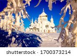 Winter Snow Forest Church View...