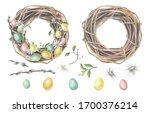 Easter Wreath Made Of Willow...