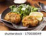 Organic Homemade Crab Cakes...