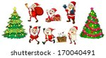 illustration of santa with the... | Shutterstock .eps vector #170040491