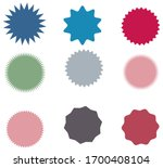 set of vector starburst ... | Shutterstock .eps vector #1700408104