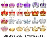 illustration set of crowns with ... | Shutterstock .eps vector #1700411731