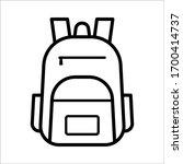 school bag icon vector design... | Shutterstock .eps vector #1700414737