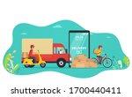 concept online service delivery ... | Shutterstock .eps vector #1700440411
