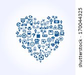 icon with heart shape for... | Shutterstock .eps vector #170044325