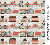 cute seamless pattern with... | Shutterstock .eps vector #170046761