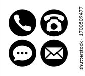contact icon set. communication ... | Shutterstock .eps vector #1700509477