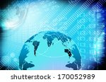 the stock market graph and world   Shutterstock . vector #170052989