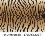 Tiger Pattern Design  Vector...