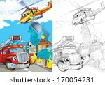 cartoon vehicle   illustration... | Shutterstock . vector #170054231