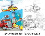 cartoon vehicle   illustration... | Shutterstock . vector #170054315