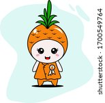 cute pineapple character vector ... | Shutterstock .eps vector #1700549764