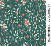 vector seamless  pattern of... | Shutterstock .eps vector #1700558797