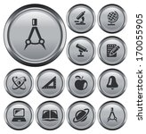education button set | Shutterstock .eps vector #170055905