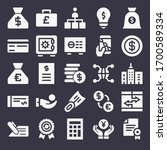 set of 25 bank filled icons... | Shutterstock . vector #1700589334
