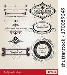 calligraphic design elements... | Shutterstock .eps vector #170059349