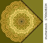 mandala background. vector...   Shutterstock .eps vector #1700638234