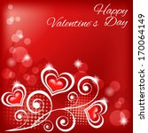 valentine s background with... | Shutterstock .eps vector #170064149
