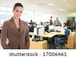 businesswoman standing at the...   Shutterstock . vector #17006461