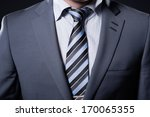 closeup businessman suit   Shutterstock . vector #170065355