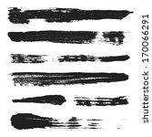 grunge brushes set 3 | Shutterstock . vector #170066291