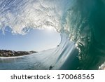 Inside Hollow Ocean Wave  Clea...