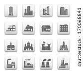 web buttons  building icons | Shutterstock .eps vector #170068841
