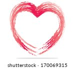 heart. painted with a brush.... | Shutterstock .eps vector #170069315