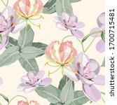 Seamless Pattern  Succulent...