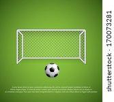 soccer goal and ball.vector | Shutterstock .eps vector #170073281