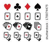 playing cards  poker  gambling... | Shutterstock .eps vector #170074475