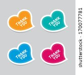 thank you heart labels | Shutterstock .eps vector #170077781